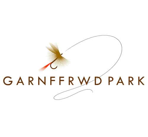 This fishery logo was created using an actual fishing fly provided by the client. This bespoke graphic representation makes a bold, elegant icon, with an impression of movement provided by the swoosh of the the fishing line forming an arc over the lettering GARNFFRWD PARK.